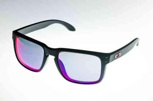 OAKLEY HOLBROOK Matte Black/Positive Red Iridium OO 9102-36