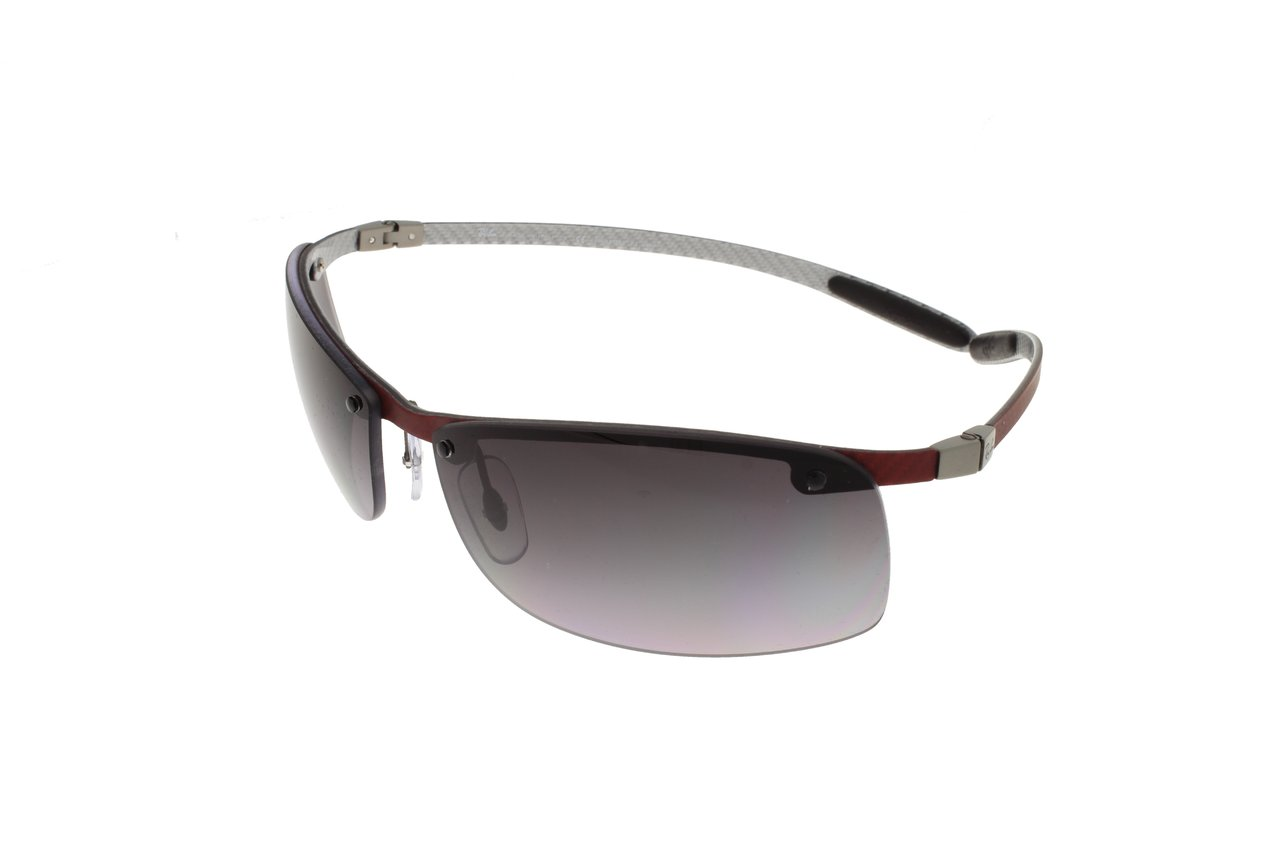 fcdd2d85e8c RAY-BAN Red on Light Carbon   Grey Polarized RB8305 142 T3 63