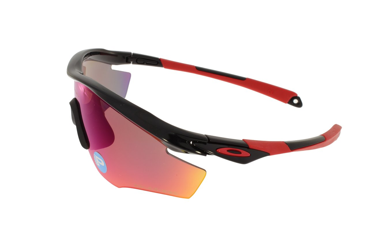 Oakley M2 Frame Polished Black / Red Iridium Polarized 9212-06 6arbcz