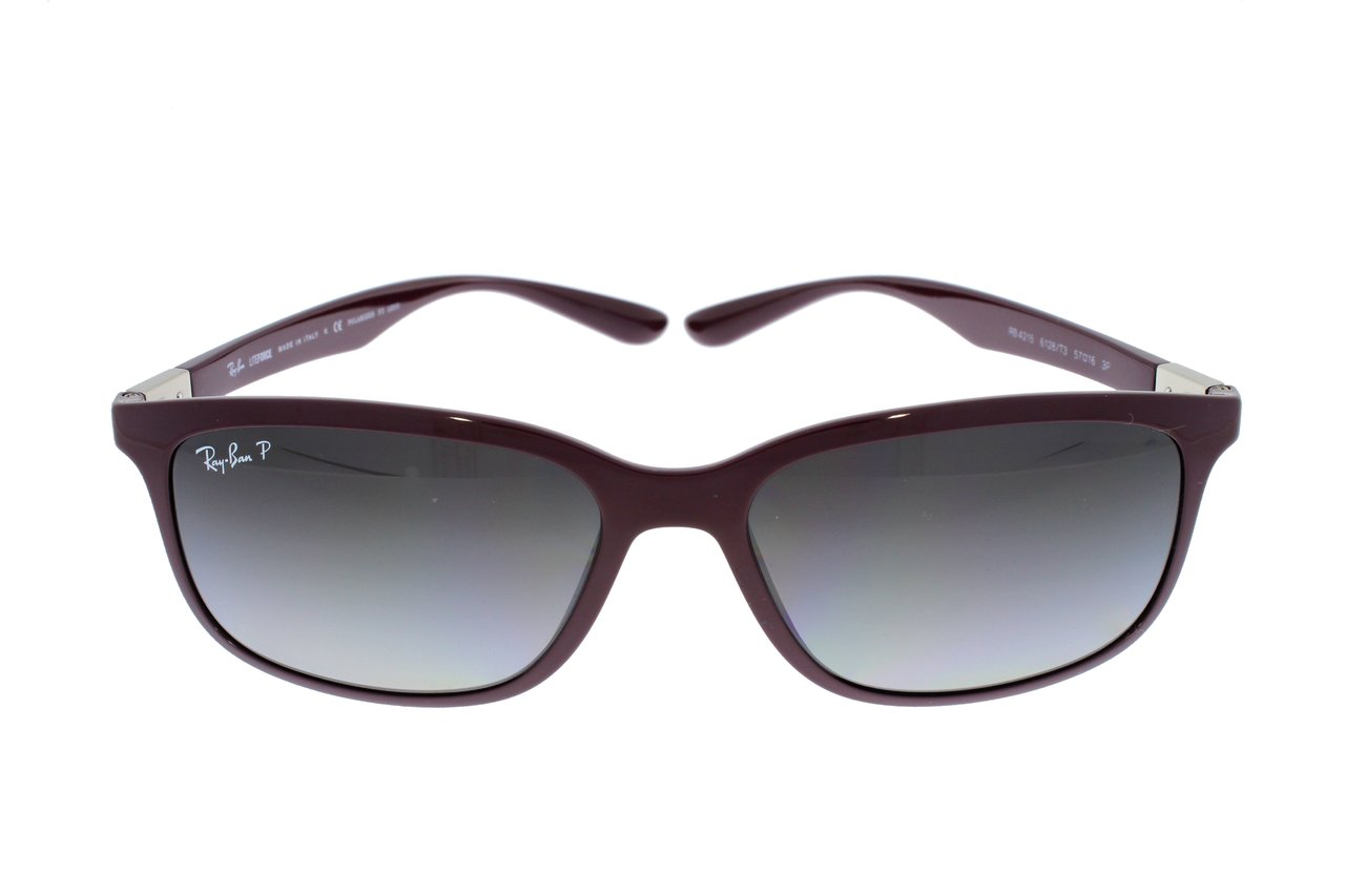 RAY-BAN LITEFORCE / Violett/Grey Gradient Polarized RB4215 6128T3 57 ByD5B