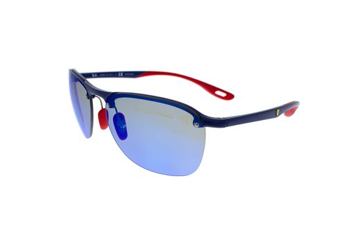 RAY-BAN SCUDERIA FERRARI COLLECTION Blue Mirror Chromance Polarized RB4302M F606H0 62