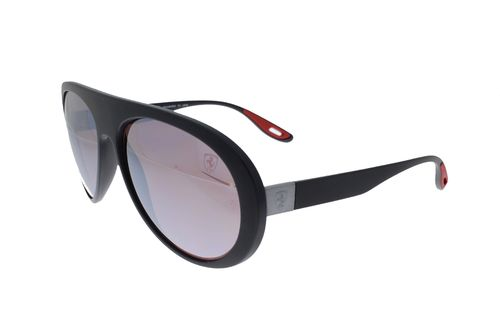 RAY-BAN SCUDERIA FERRARI COLLECTION Peek Black / Silver Mirror Chromance POLARIZED RB4310M F602H2 59