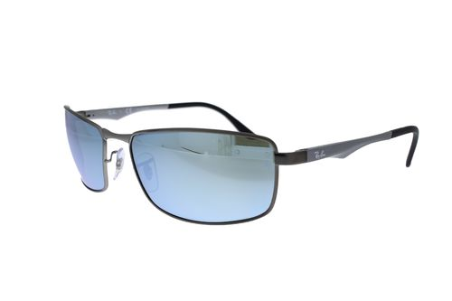 RAY-BAN Gunmetal / Silver Flash Polarized RB3498 029/Y4
