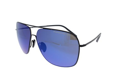 PORSCHE DESIGN Pilot Satin Black / Dark Blue Mirror P8607 A 63