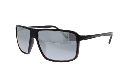 PORSCHE DESIGN TITANIUM Brown / Mercury Mirror P8650 E 60